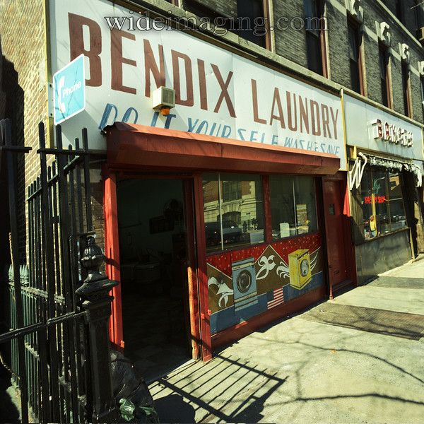 The Bendix Laundromat on 7th Ave. near 6th street in Park Slope, from the Fall of 1988. (see the side by side comparison photos in this gallery)
