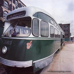 3303 The last trolley in Red Hook Brooklyn, August 1, 2014.