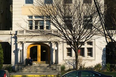 The beautiful front entrance of 275 Washington Avenue.