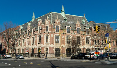 Today, this building houses condos but the building was constructed in 1914 as the Cathedral College of the Immaculate Conception, a so-called minor seminary. That meant it was run by the Roman Catholic Diocese of Brooklyn as a 4-year high school track and 2-year collge track.