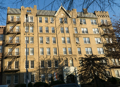 """Another elegant apartment house on Clinton Avenue's """"Millionire's Row."""" This is The Yorkshire at 295 Clinton Avenue."""