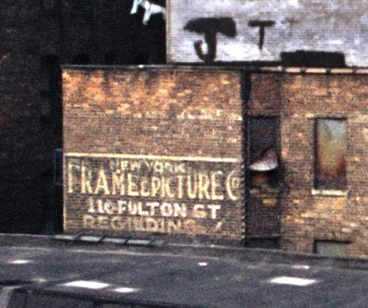 Side-of-the-building ads for the New York Frame and Picture Company used to be everywhere.