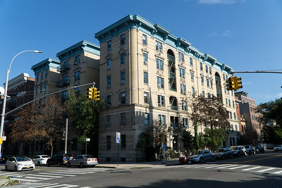 I love this grand old apartment building on Washington Avenue in Fort Greene.