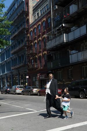 Sunday walk with papa. Bedford Avenue.