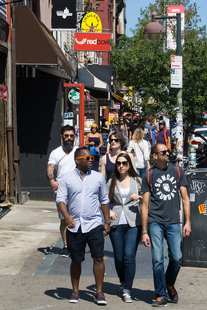 Now we've walked further north into Hipster Williamsburg. The sidewalks are crowded with young people and tourists on Bedford Avenue.