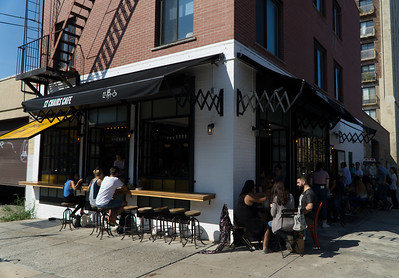 Williamsburg cafe scene.