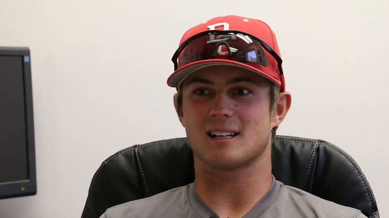 This interview with Brooks Douglass, leadoff hitter for the 2016 Bakersfield College Super Regional Qualifying Baseball team was shot in the George Culver Clubhouse a couple of weeks before the postseason began...Douglass was charming and engaging while sitting in the hot seat behind Coach Painton's desk. He was cool and collected despite his teammates getting dressed behind the interviewer (BC Sports Information Director Francis Mayer), and Coach P and his assistants getting dressed an arm's length away.