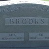 Gravestone Brooks - Ada and Ed