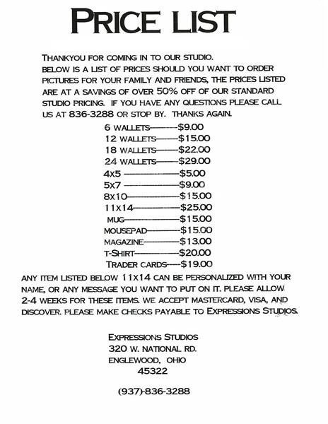 Events Price