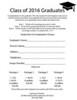 Graduation Order Form (2016)
