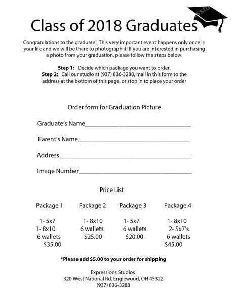 Graduation Orders