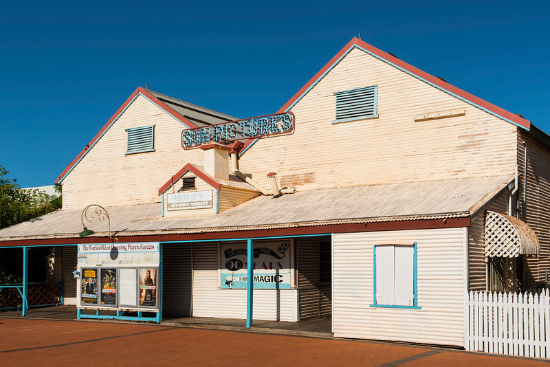 BM592039<br /> The Sun Picture, Broome cinema<br /> Originally built in 1916<br /> the picture garden you will see is still original with its open air & undercover deck chairs