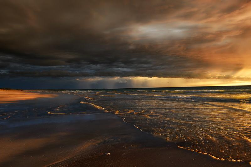 last sunray before the storm, north western australia