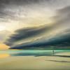 storm along beach