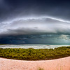 storm build-up seen from Kennedy hill, Chinatown Broome