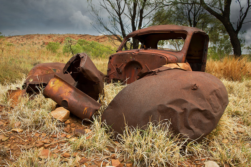 an old car body dating certainly from the early prospectors