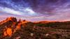 K 490046  sunrise  Kimberley hills