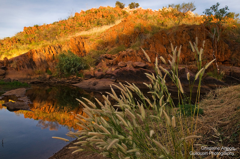 Quartz outcrop along the Elvire river situated in Halls Creek, a small town in the Kimberley, Australia
