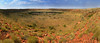 Panorama of Wolf Creek Crater, second biggest meteorite crater in the world. The crater diameter varies between 850m & 950m.<br /> It is beleived a meteor impated the earth surface about 2 millions years ago.