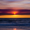 spectacular sunset over Cable beach, Broome<br /> 00539-010