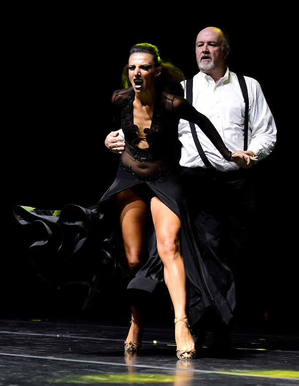 . Tom Gaines and Diana Strashnikova perform on stage during the Dancing with the Broomfield Stars fundraiser hosted by the Broomfield Community Foundation on Thursday at the 1stBank Center in Broomfield. For more photos of the fundraiser go to dailycamera.com Jeremy Papasso/ Staff Photographer/ Oct. 5, 2017