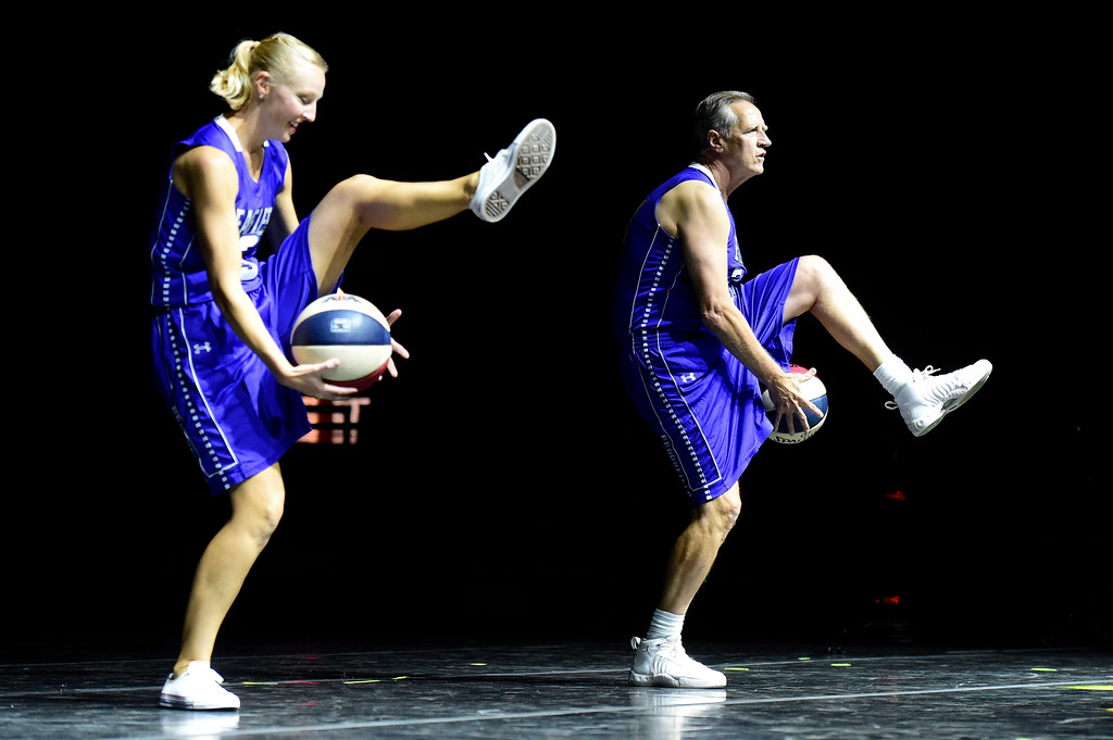 . Tim Clifford and Stephanie McGill perform on stage during the Dancing with the Broomfield Stars fundraiser hosted by the Broomfield Community Foundation on Thursday at the 1stBank Center in Broomfield. For more photos of the fundraiser go to dailycamera.com Jeremy Papasso/ Staff Photographer/ Oct. 5, 2017