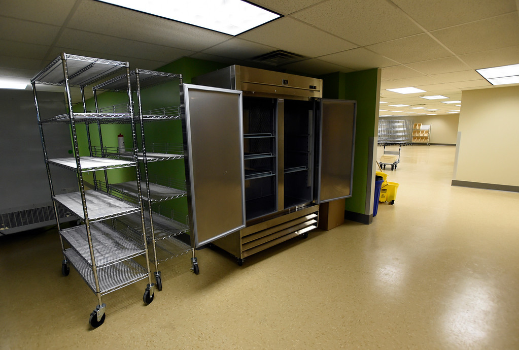 . An area of the new Broomfield Fish Food Pantry location on Thursday in Broomfield. For more photos of crews setting up the new food pantry location go to www.dailycamera.com Jeremy Papasso/ Staff Photographer/ May 25, 2017