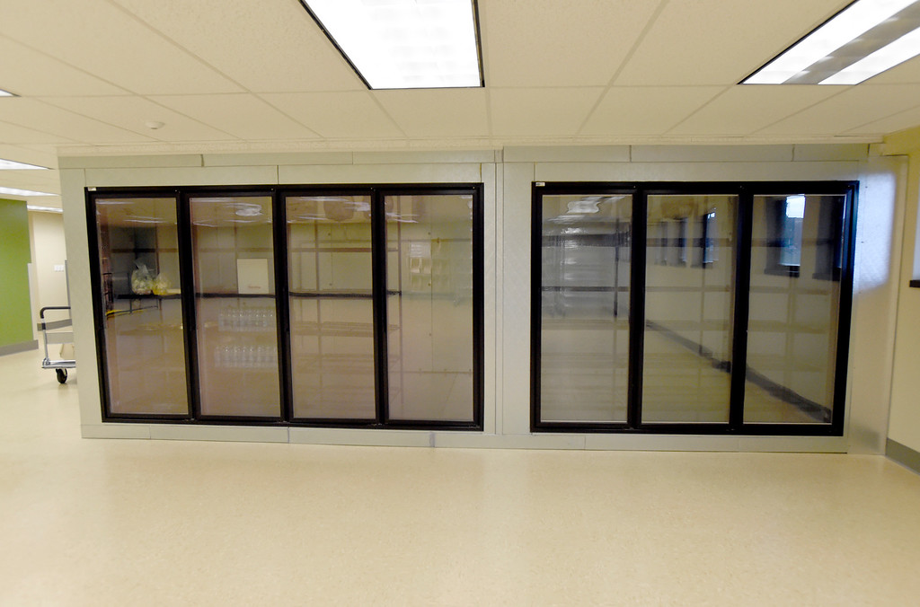 . A few refrigerators to store food at the new Broomfield Fish Food Pantry location on Thursday in Broomfield. For more photos of crews setting up the new food pantry location go to www.dailycamera.com Jeremy Papasso/ Staff Photographer/ May 25, 2017