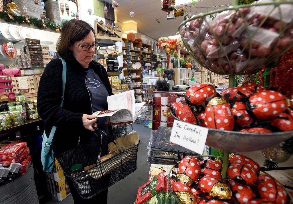. BOULDER, CO - NOVEMBER 23, 2018: Janet Schoen, of Denver, shops at the Peppercorn store on Friday in Boulder. (Photo by Jeremy Papasso/Staff Photographer)