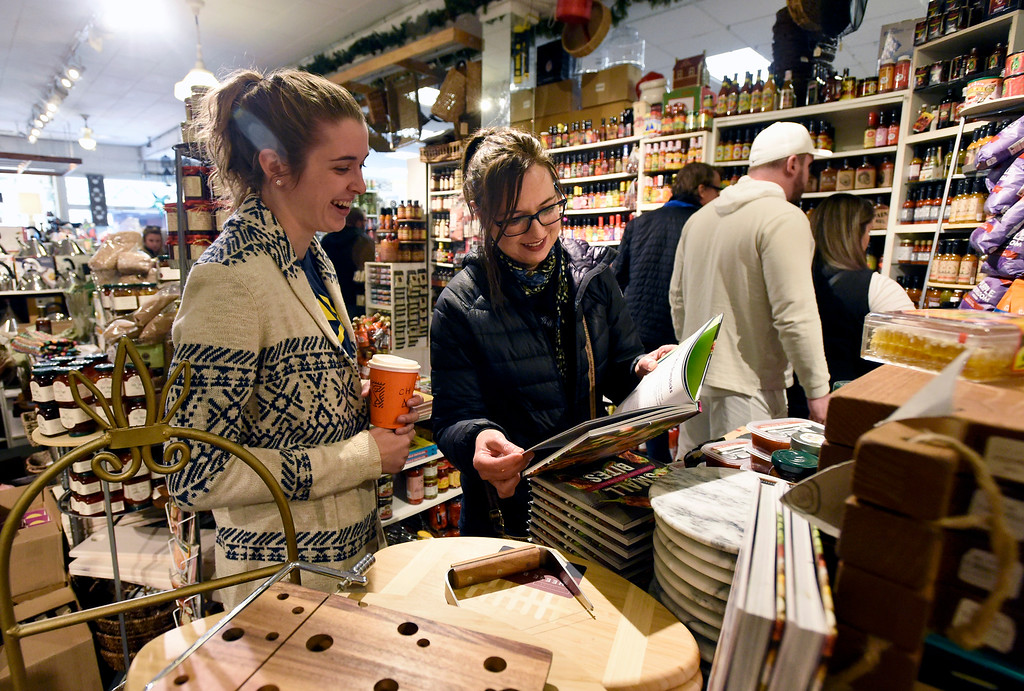 . BOULDER, CO - NOVEMBER 23, 2018: Lori, at right, and her daughter Sara, both who declined to give their last names, shop together at the Peppercorn store on Friday in Boulder. (Photo by Jeremy Papasso/Staff Photographer)