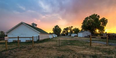 Sunset at Metzger Farm
