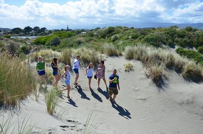 Emma Chloe Meg Jan Keira Debbie Alan Waikawa Beach Rotorua Trip January 2014