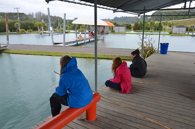 Emma Chloe Debbie Taupo Prawn Park January 2014