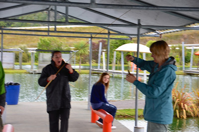 Debbie Chloe Jan Taupo Prawn Park January 2014
