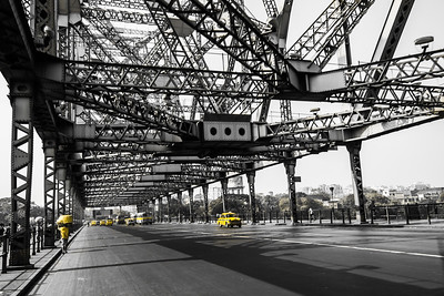 ~~ With Primary color of Kolkata: Yellow ~~ Location: Howrah Bridge, Kolkata, India