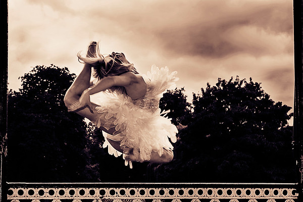 Hippy-Joe Weston from Sky TV Got To Dance in full flight dress designed by Aleah Leighdesigns.
