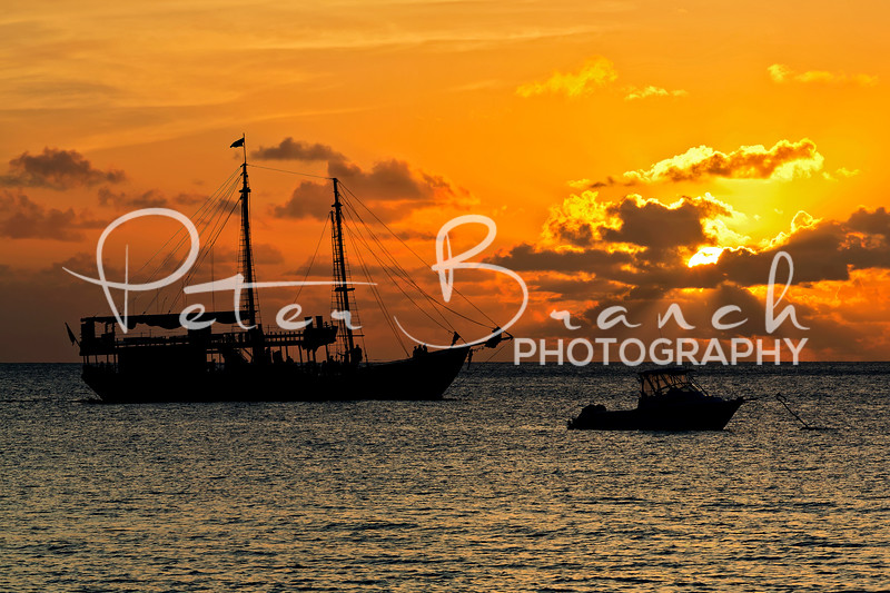 Pirate Ship Sunset.