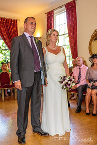 Bride Groom & guest at Hertford Registry During ceremony.