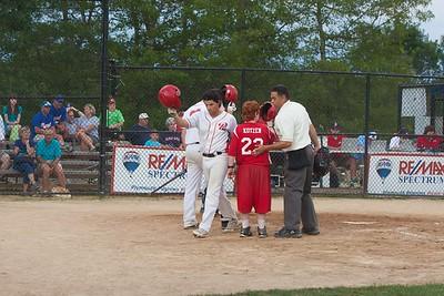 3rd baseman Mandy Alvarez from Eastern Kentucky University tips his helmet after hitting a home run.Wicked Local Photo/Denise Maccaferri