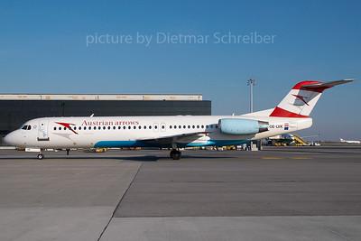 2007-11-29 OE-LVK Fokker 100 Austrian Arrows