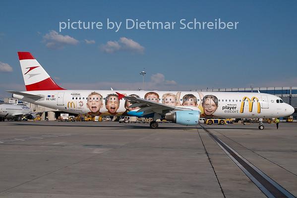 2008-07-27 OE-LBC Airbus A321 AustrianA irlines