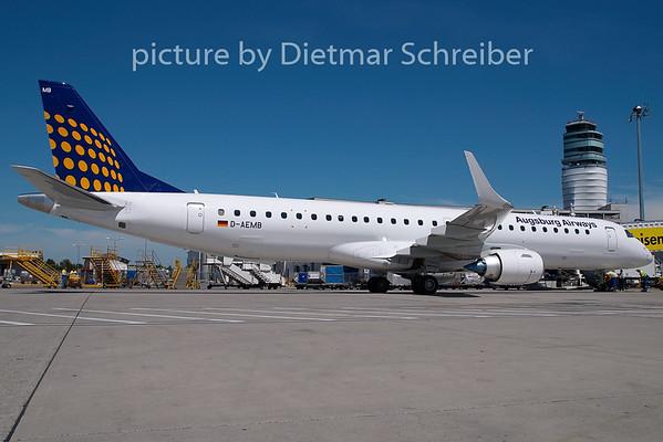 2009-07-27 D-AEMD Embraer 195 Augsburg Airways