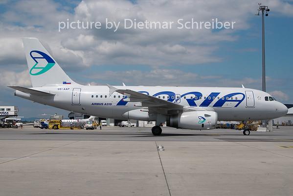 2010-06-24 S5-AAP Airbus A319 Adria AIrways