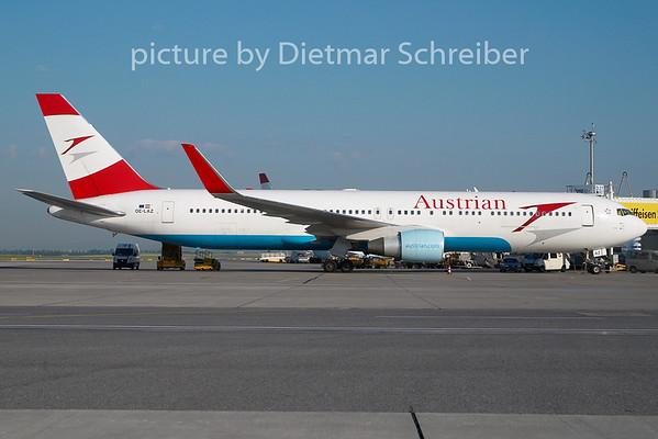 2010-06-29 OE-LAZ Boeing 767-300 AUstrian Airlines