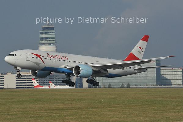 2011-10-30 OE-LPB Boeing 777-200 Austrian Airlines