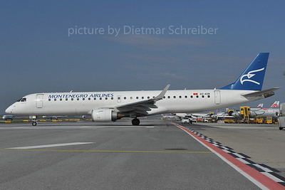 2012-03-28 4O-AOB Embraer 195 Montengro Airlines