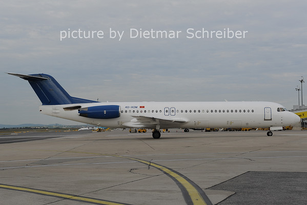 2012-08-29 4O-AOM Fokker 100 Montenegro AIrlines