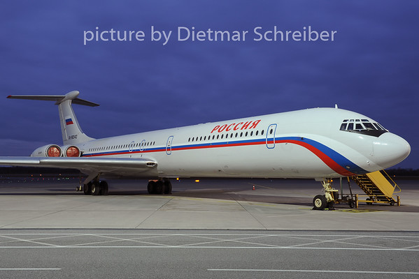 2012-11-30 RA-86540 Ilyushin 62 Russian Government