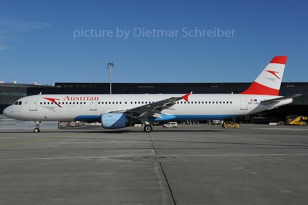 2013-01-31 OE-LBD Airbus A321 Austrian Airlines
