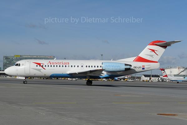 2013-01-31 OE-LFI Fokker 70 Austrian AIrlines